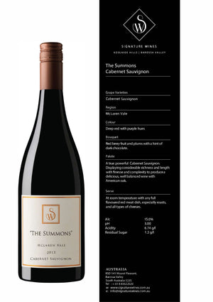 The Summons Collection Cabernet Sauvignon 2015