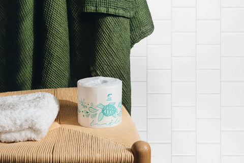 Pure Planet Club's Eco-Friendly Bamboo Toilet Paper, Turtle Wrapper
