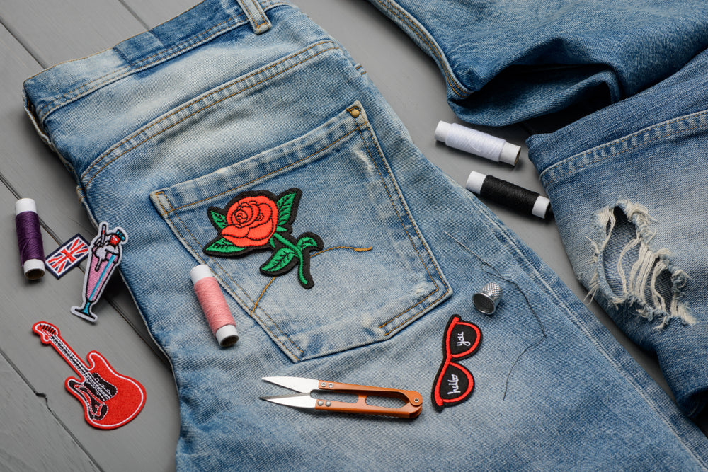 Sewing Embroidered Patch Favorite Pair Jeans