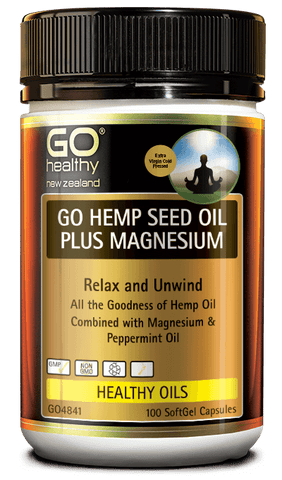GO Hemp Seed Oil Plus Magnesium 100s
