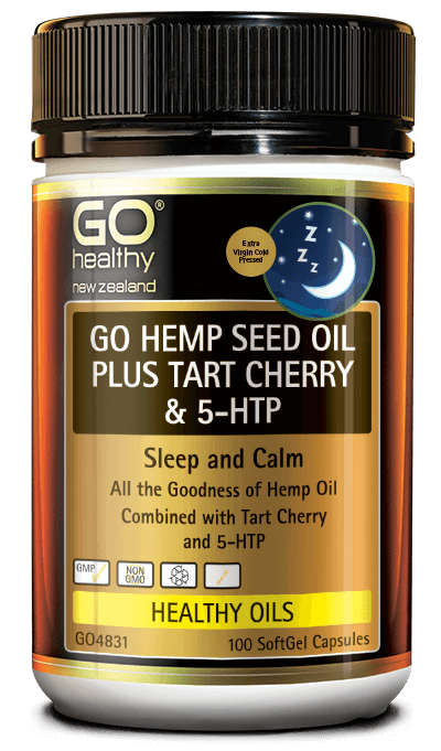 GO Hemp Seed Oil Plus TC &5HTP 100s
