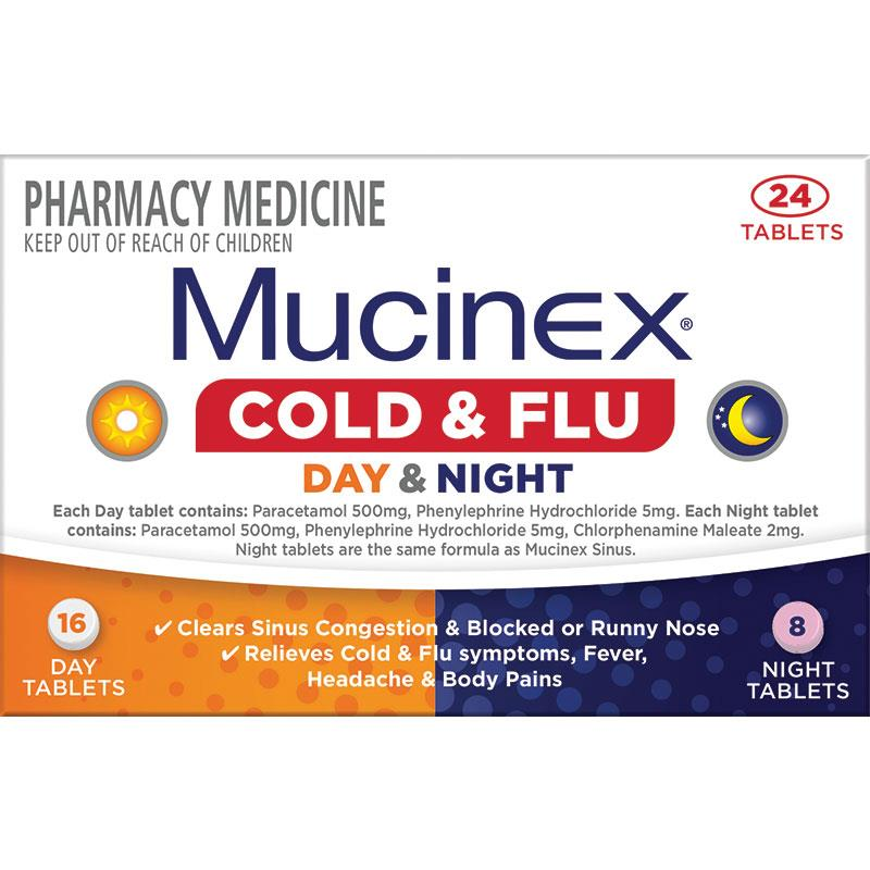 Mucinex Cold & Flu Day & Night 24s