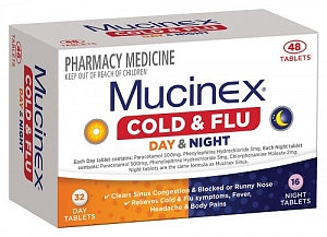 Mucinex Cold & Flu Day & Night 48s
