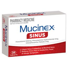 MUCINEX Sinus Tablets 24s