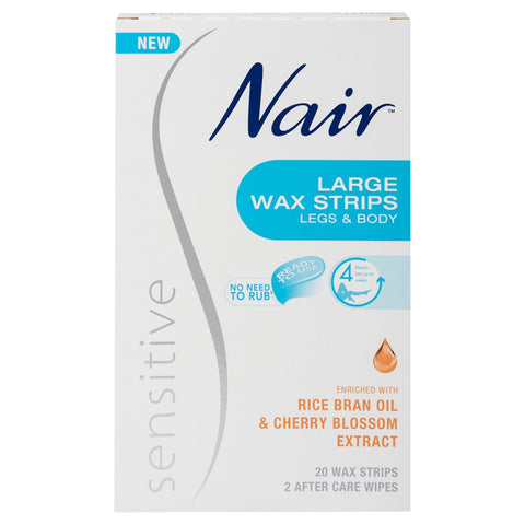 NAIR Sensitive Wax Strips Lrg 20pk