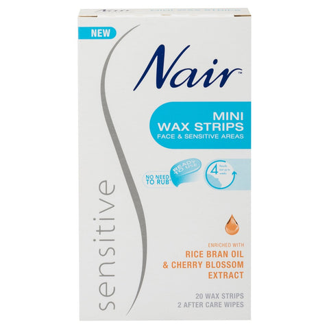 NAIR Sensitive Wax Strips Mini 20pk