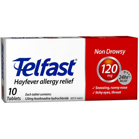 TELFAST Tablets 120mg 10s: