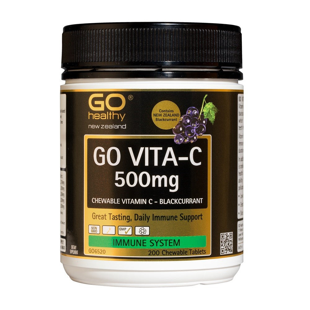 GO Vita-C 500mg B/Currant 100 Chew