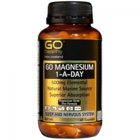 GO Magnesium 1-A-Day 500mg 60caps
