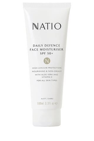 NATIO Face Moisturiser SPF50 100ml