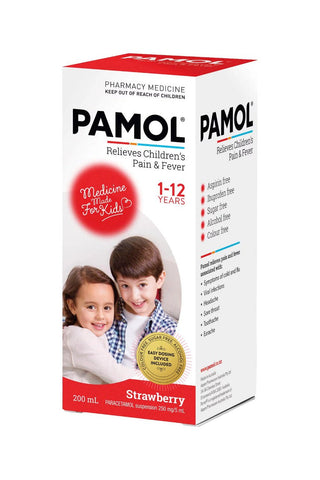 PAMOL All Ages Strawberry C/F 200ml