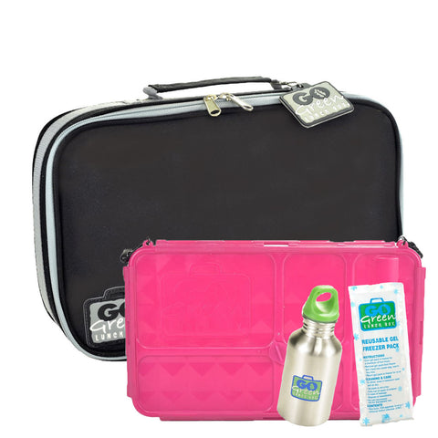 Go Green Black Stallion SET - Pink Food Box