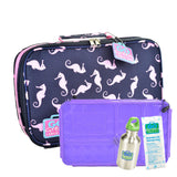 Go Green Seahorse SET - Purple Food Box