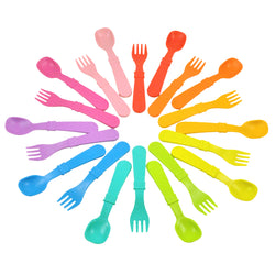 re-play rainbow cutlery