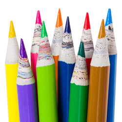 Full Size Recycled Newspaper Colouring Pencils 10 Pack