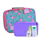 Go Green Flamingo SET - Purple Food Box