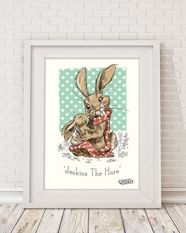 'Jenkins the Hare Baby Kiss' Print
