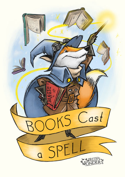 Art Print - Books Cast A Spell