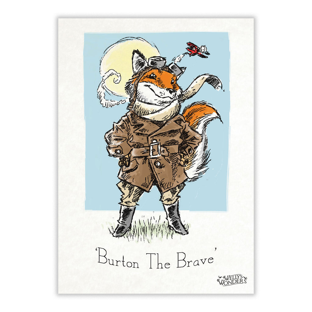 Art Print - Burton the Brave Portrait