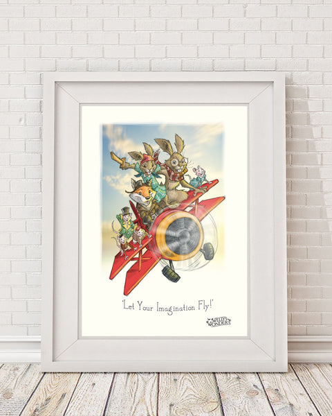 'Let Your Imagination Fly!' Print