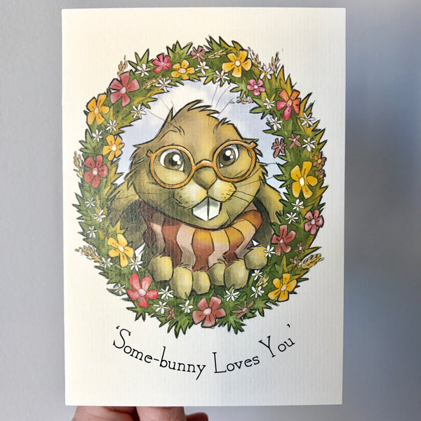 Greeting Card - Some-bunny Loves You