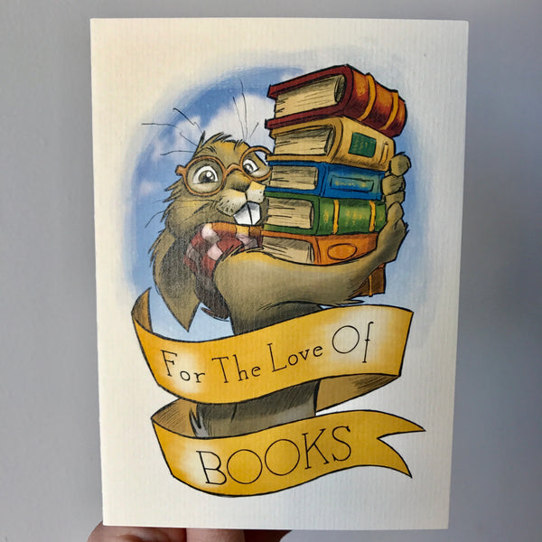 'For The Love Of Books' Card