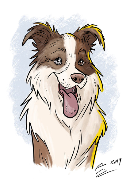 Digital Only Custom Portrait - Pet Portrait - People Portrait - Family Portrait