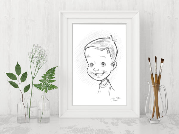 A4 Size (Small) Custom Portrait - People/Pets