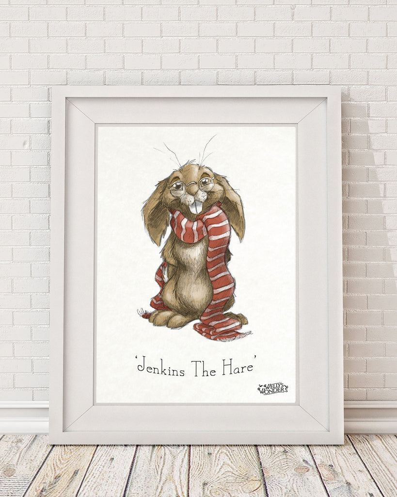 'Jenkins the Hare Portrait' Print