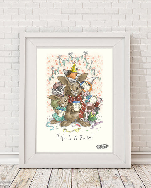 'Life Is A Party' Print