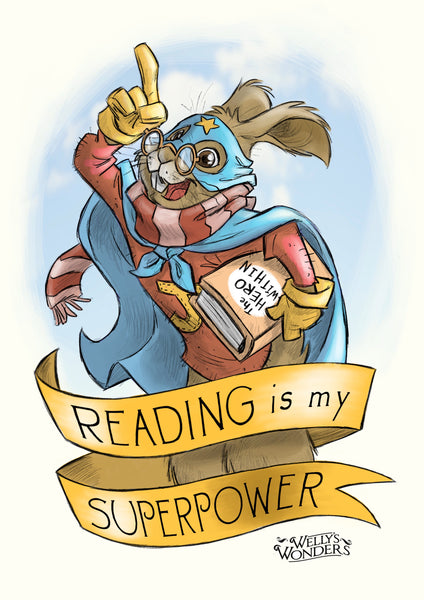 Art Print - Reading Is My Superpower