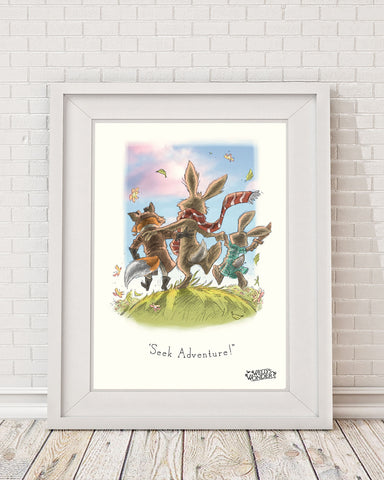 'Seek Adventure - Trio' Print
