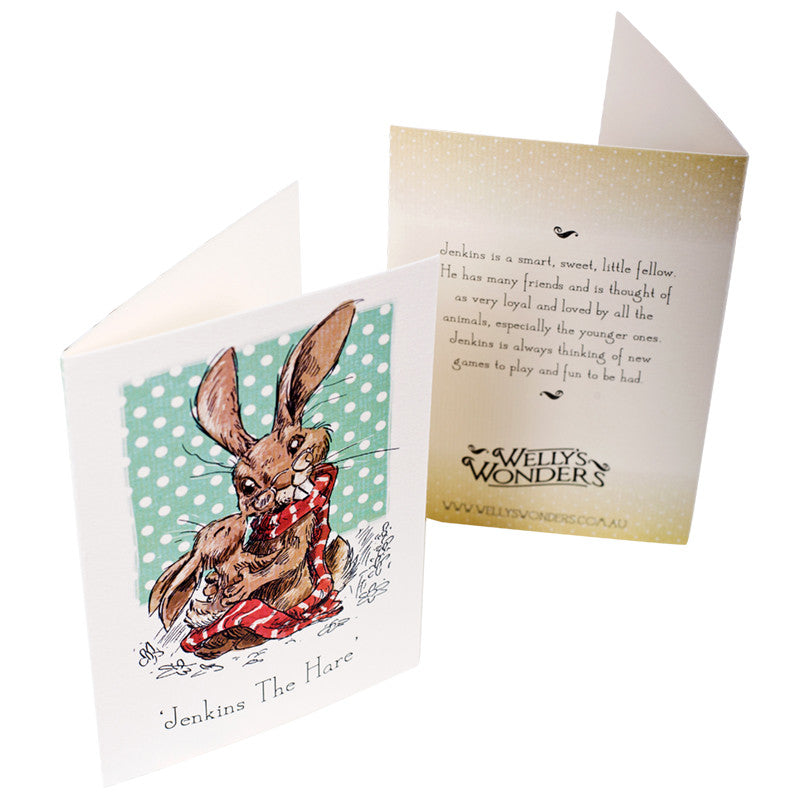 Greeting Card - Jenkins the Hare Baby Kiss