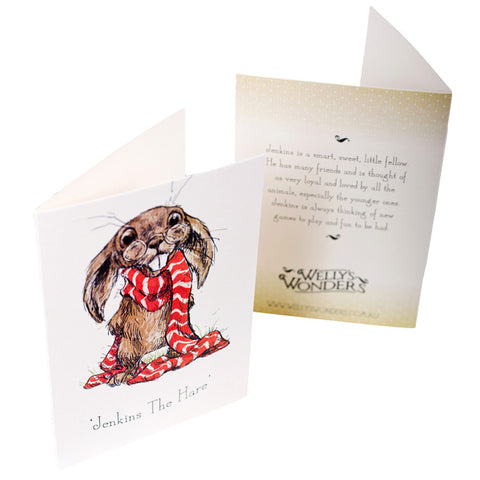 Jenkins the Hare Portrait Card