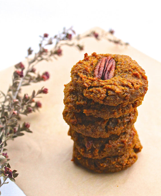 Turmeric, Almond and Tahini Cookies with Nourishing Club by Kate Levins