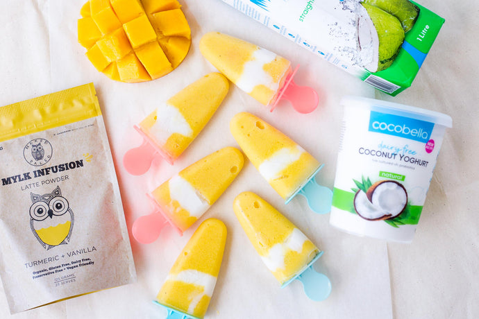 Probiotic Mango Coconut Icy Poles