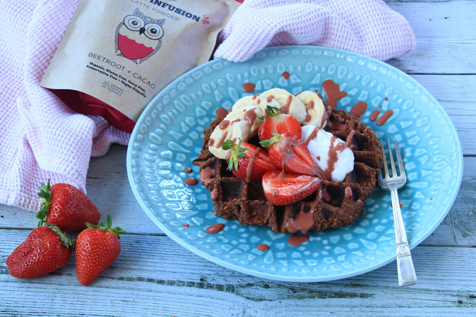 Sweet Potato Chocolate Waffles with Dasha of The Peckish Girl