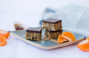 Naked Paleo Recipe Orange and Cardamom Slice Blog Bars Mylk Infusions Healthy Snacks Treats
