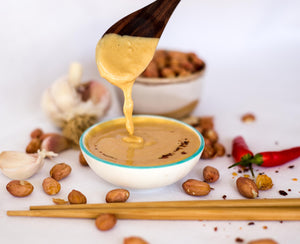 Tangy Peanut Sauce Satay Recipe Naked Paleo Blog Healthy Bars and Mylk Infusion Latte Powders