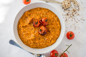 Tomato, Pumpkin and Quinoa Soup Recipe Naked Paleo Blog Winter Warmer