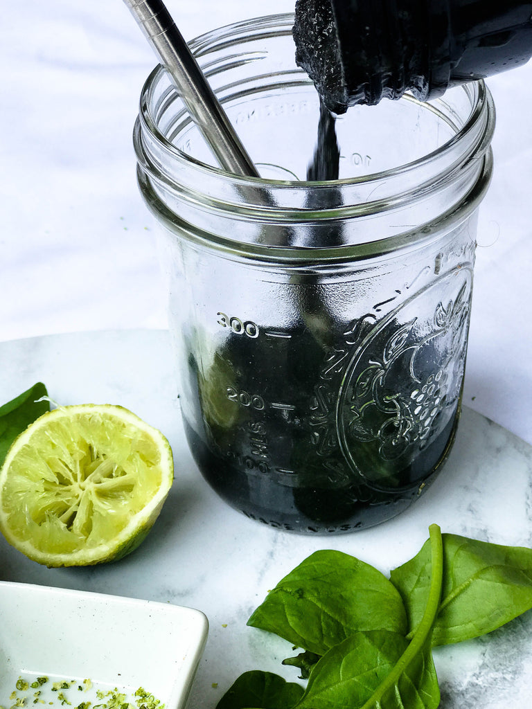 Coconut Lime Cleansing Smoothie Activated Charcoal Recipe Naked Paleo Blog