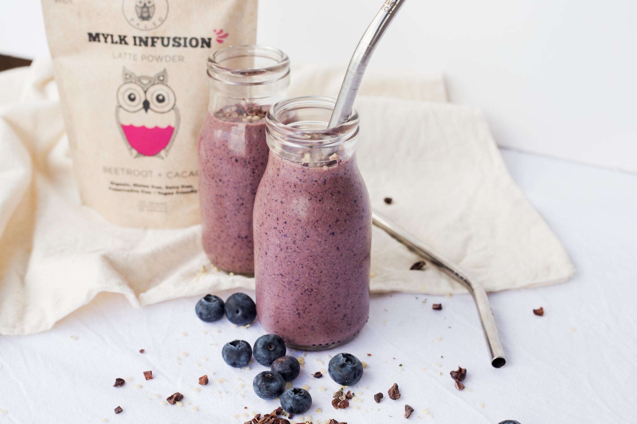 Naked Paleo Choc Beet Blueberry Smoothie Recipe Blog Organic Vegan Gluten Free Dairy Free Treats Snacks RSF