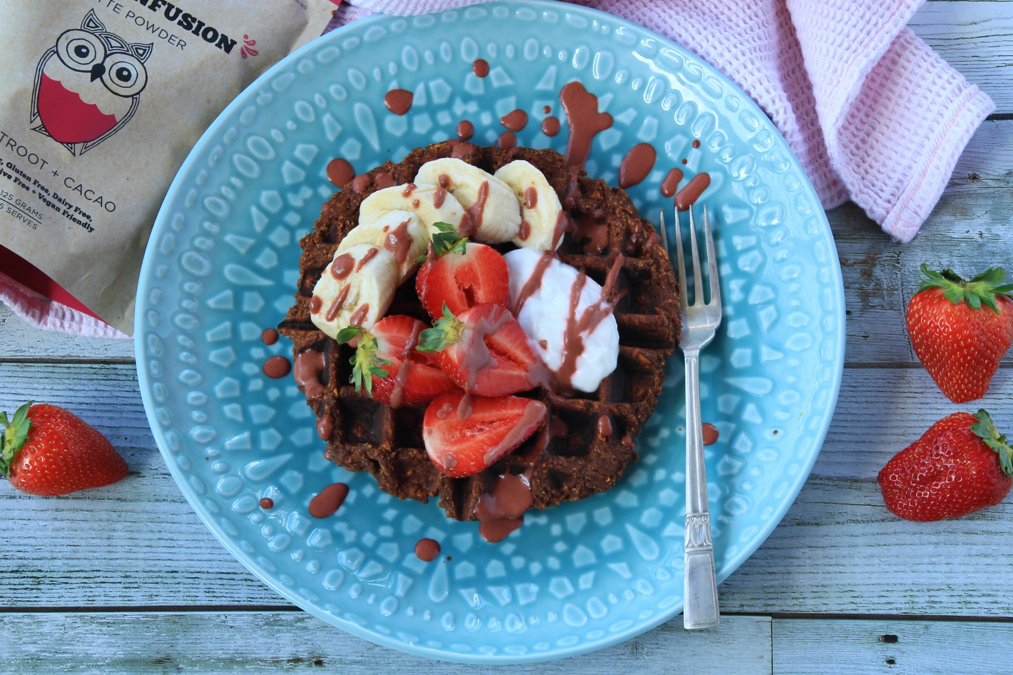 Naked Paleo Blog Recipe Sweet Potato Chocolate Waffles Dasha by The Peckish Girl