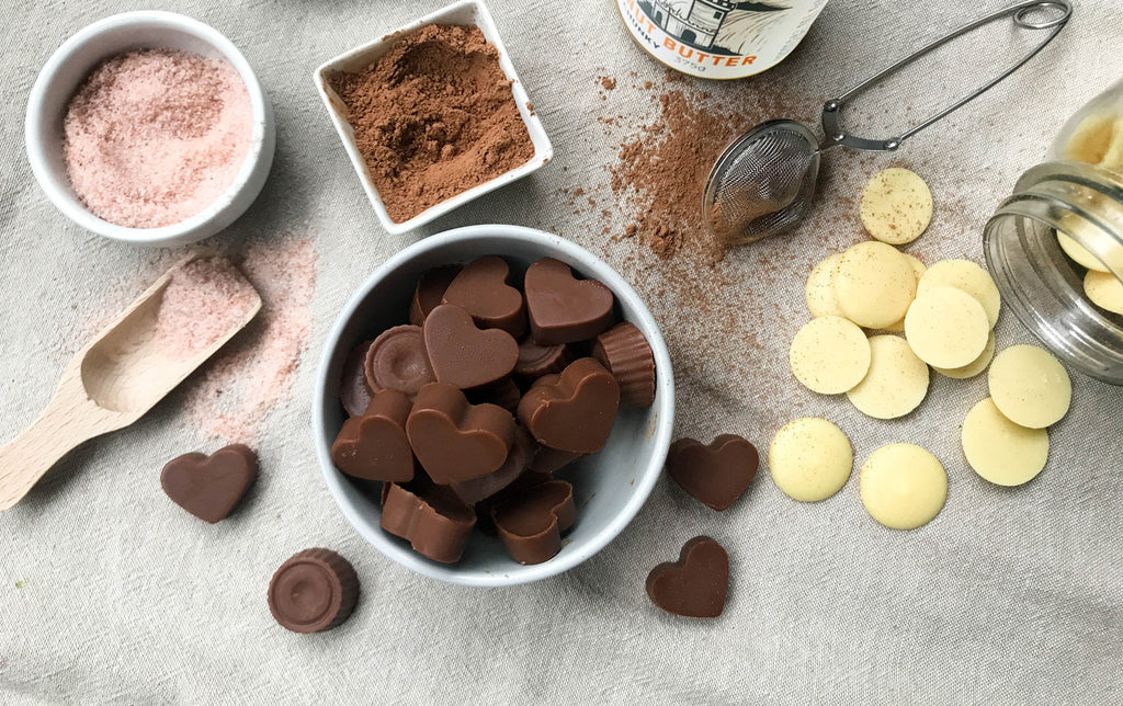 Naked Paleo Peanut Butter Chocolate Blog Recipe Valentine's Day Handmade Gift Byron Bay Peanut Butter