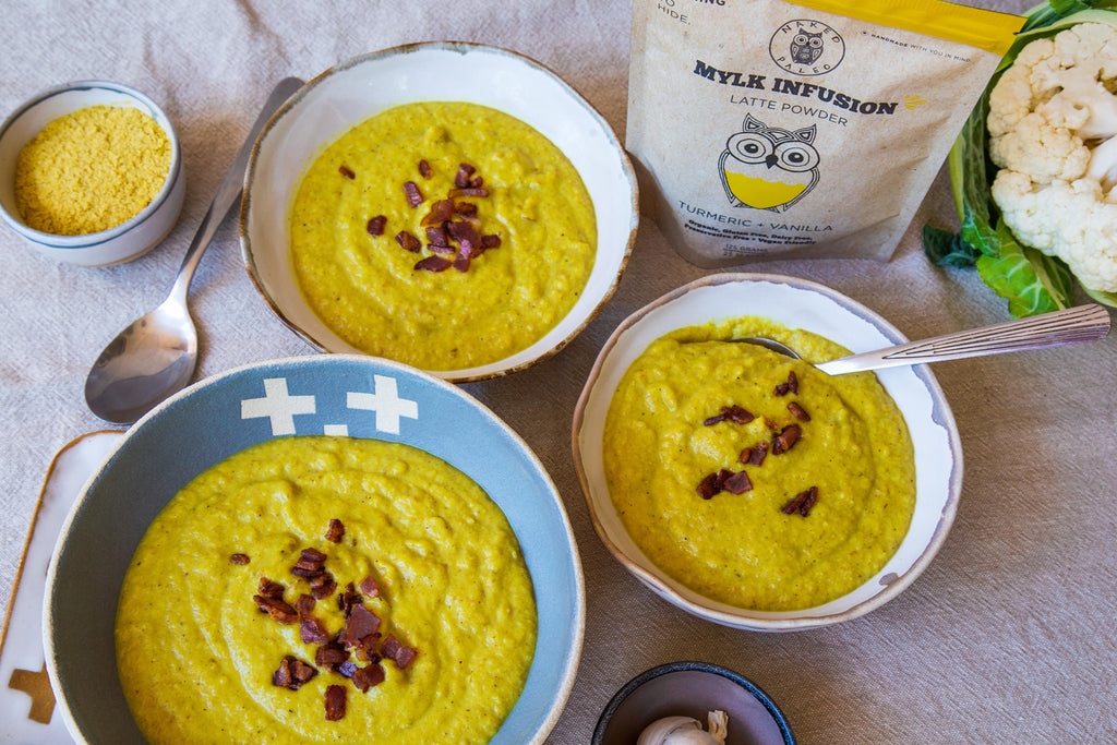 Roast Cauliflower and Turmeric Soup Recipe Naked Paleo Blog