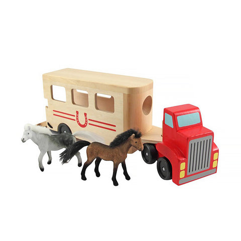 Personalized Horse Carrier Wooden Vehicles Play Set
