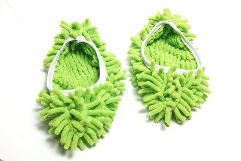 Microfiber Mop Slippers - Green