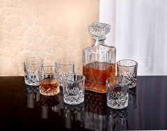 7pc Diamond Decanter Set