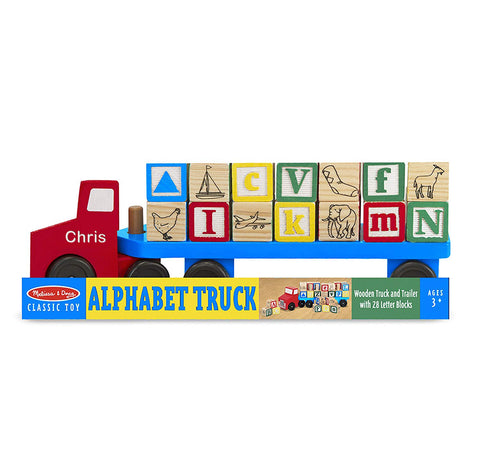 Personalized Alphabet Blocks Wooden Truck Toy