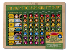 Personalized Magnetic Responsibility Chart